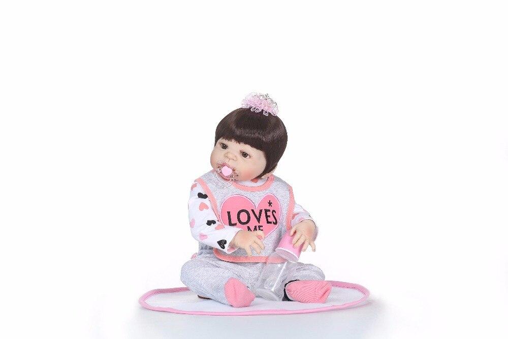 """NPK 22 """"reborn bébé fille poupées pleine silicone corps reborn poupées pour enfants cadeau réel bebe vivant reborn bonecas-in Poupées from Jeux et loisirs    2"""