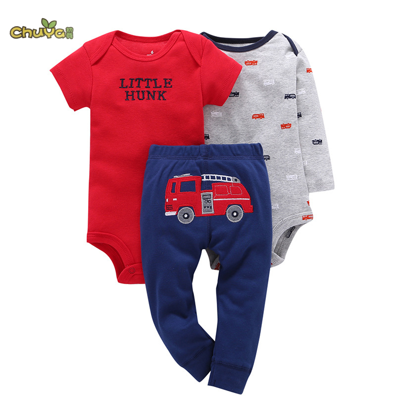 Chuya kids bebes clothes set .baby boy baby girl 3piece clothing set ropa suit romper pants set 2pcs set baby clothes set boy