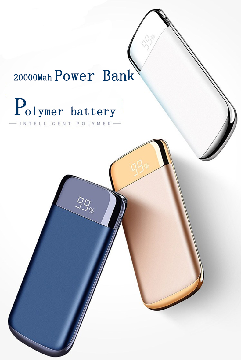 18650 Power Bank External Battery 30000mah Power Bank 2 USB LCD Powerbank Portable Mobile Phone Charger For iphone 8 X Xiaomi Mi