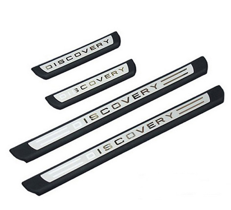 4pcs/set Of Chrome Original Outside Door Sill Scuff Plate Trim Guards Sill For Land Rover Discovery Sport 2015-2019 Car Styling