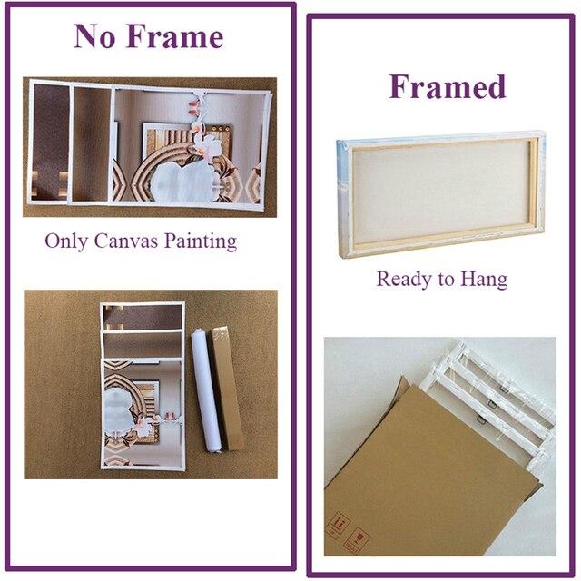 Maison imprime mur Art 5 pièces vert coeur affiche pépinière moderne toile peinture modulaire photos pour enfants chambre décor à la maison