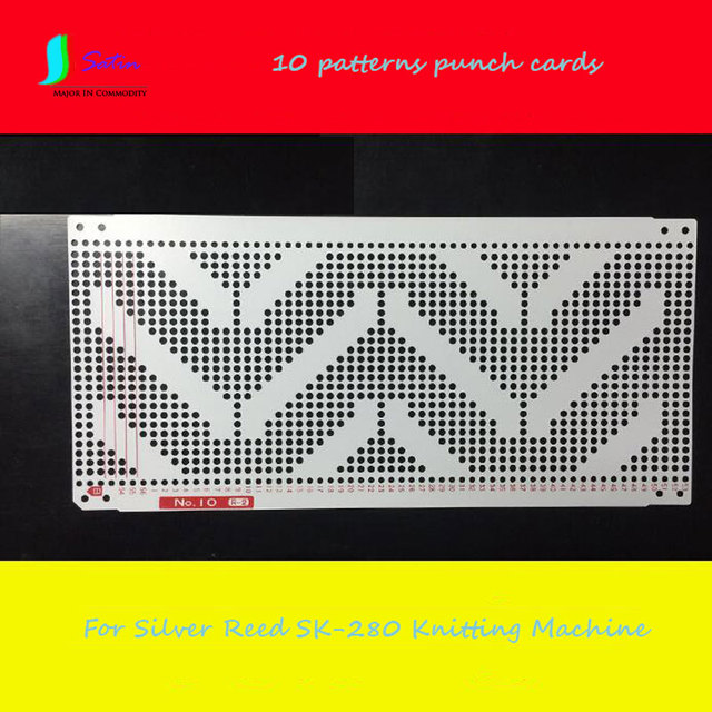 10 Pattern Knitting Machine Punch Paper Card For Silver Reed Sk280