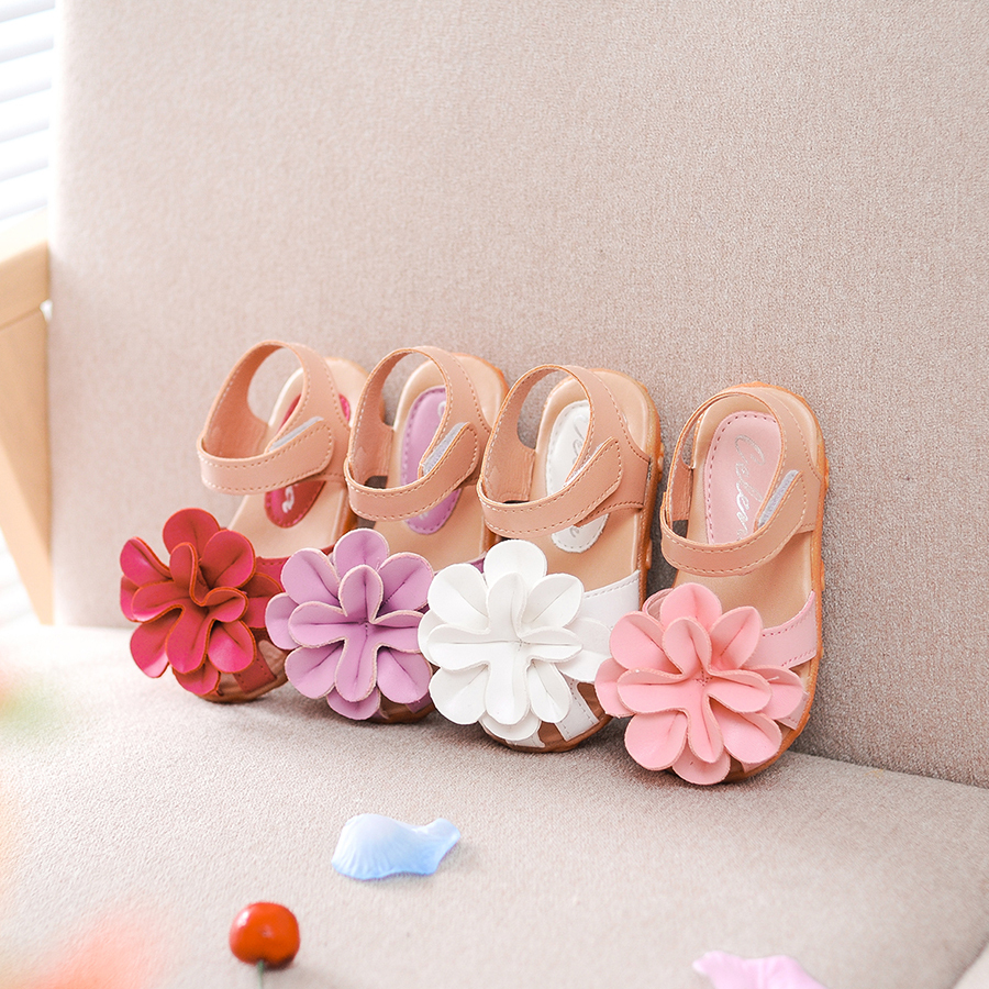 Comfy Kids Summer Style Baby Shoes Girls Sandals Flower Girls