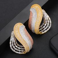 missvikki Top Quality Exclusive Handmade Big Shiny Stud Earrings original mujer moda Charm Gift Jewelry boucle d'oreille femme