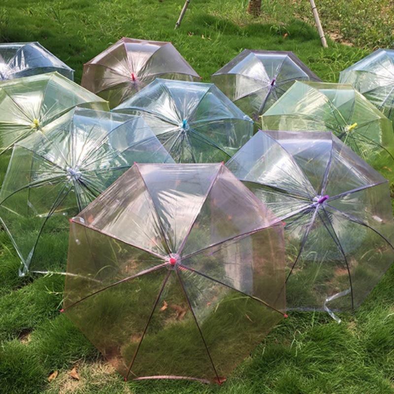 Transparent Wassermelone Regenbogenregenschirm Halbautomatische Kinder Leistung Werkzeuge Home Liefert