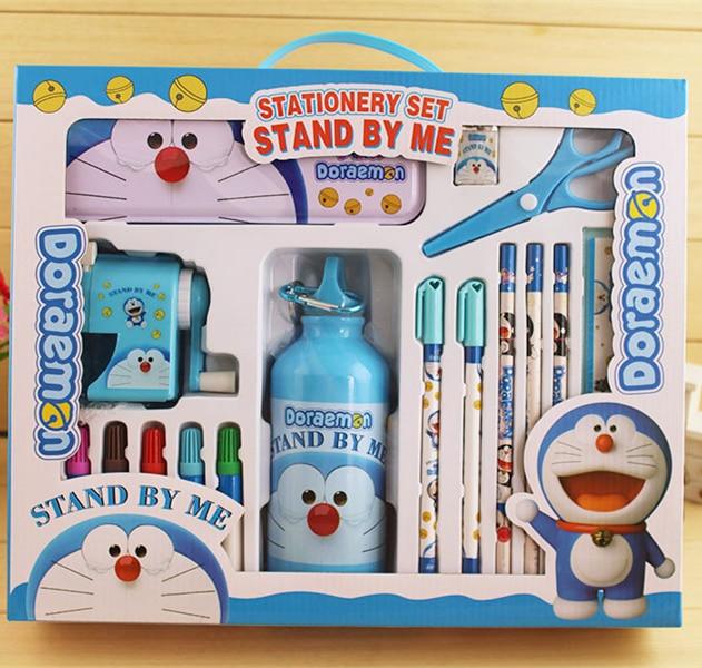 Carton School Stationery Set Gift for Children Spiderman&Hello Kitty&Minions&Doraemon