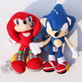"2 unids/set Sonic the hedgehog Plush Toys 7 "" 18 cm Sonic y Knuckles la the Echidna relleno envío gratis"