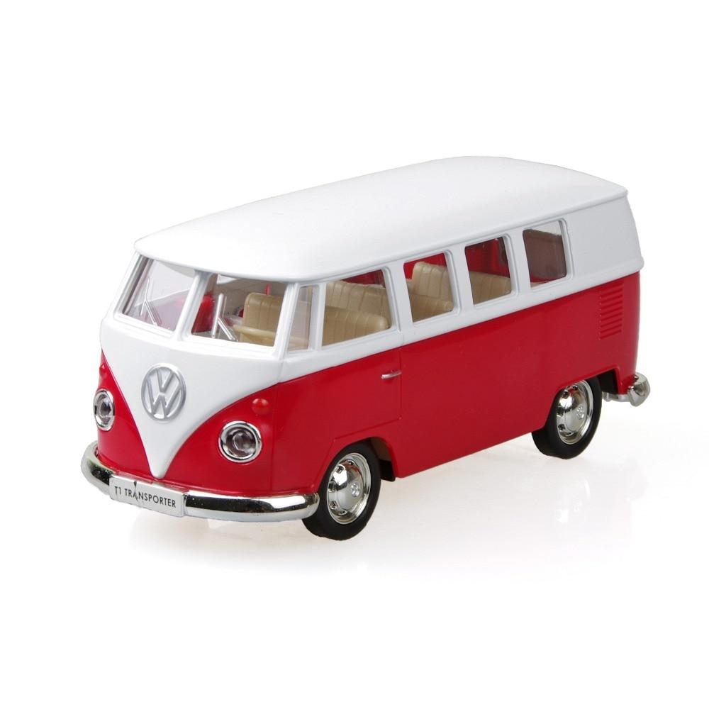 vw t1 kombi transporter microbus red 1 36 alloy model car. Black Bedroom Furniture Sets. Home Design Ideas
