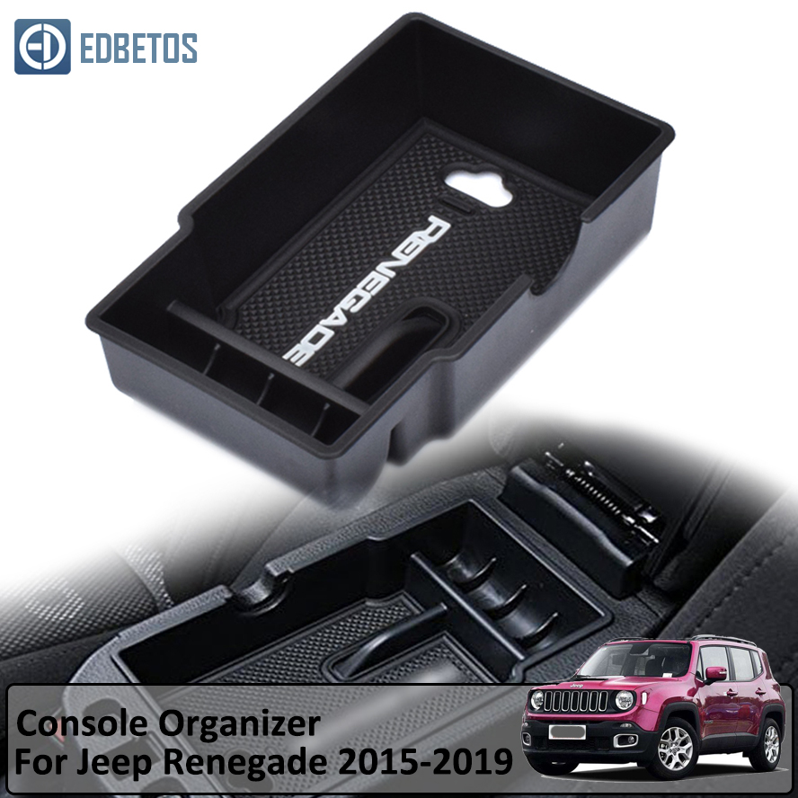 Renegade Auto Center Console Armrest Storage Box Glove Box Secondary Storage For Jeep Renegade 2015 2016-2019 Console Organizer
