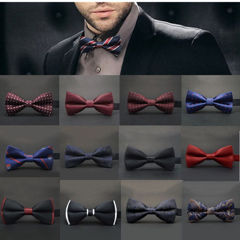 12colors Ties Bow Papillon for Men Suits Fastening Hook ...