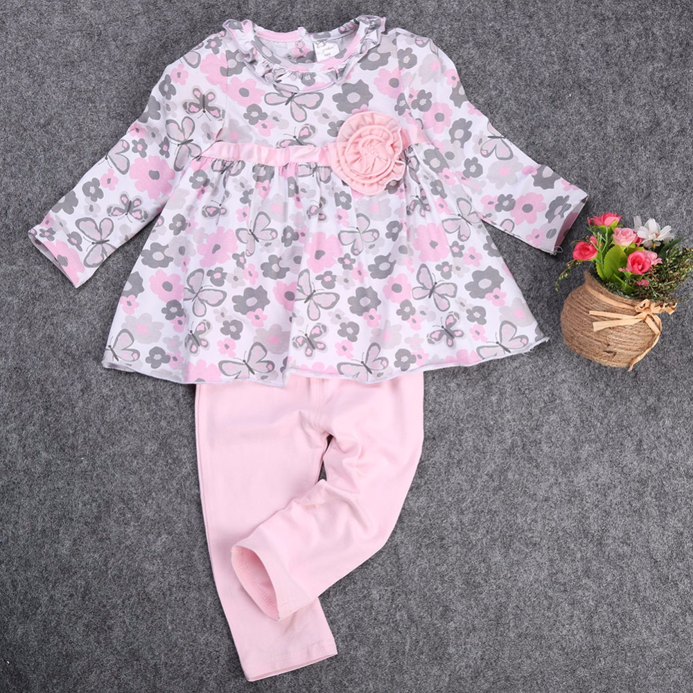 princess-dress-2pcs-Baby-Girl-Kid-clothing-set-Newborn-T-shirt-Floral-Peplum-DressPants-Trousers-2pcs-Clothing-Outfit-Set-2