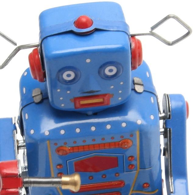 Kids Retro Clockwork Walking Robot Toy