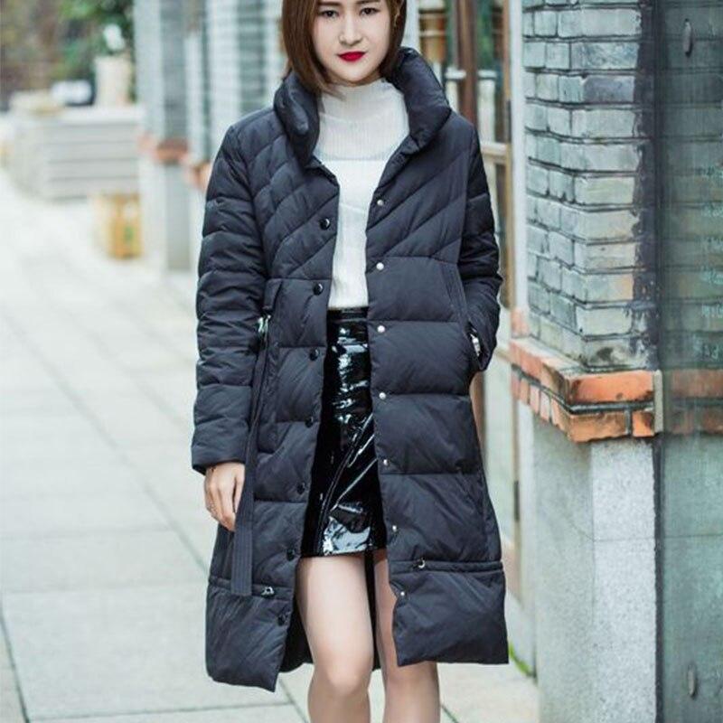 Capuchon Coton Long De À Épais Noir Jacket D'hiver Femmes wq476pTvxn
