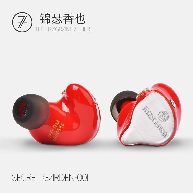 Le Parfumé Cithare TFZ Secret Jardin HD Dynamique Pilote HIFI Moniteur IEM Dans L'oreille Écouteur Avec 2-pin 0.78mm Câble Détachable