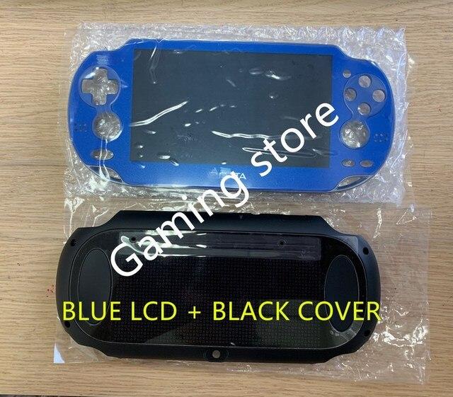 Originele nieuwe voor psvita voor ps vita psv 1000 lcd scherm gemonteerd blauw + achterkant zwart WIFI of 3G versie