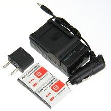 Big sale Digital Boy 2pcs NP-BG1 NP BG1 NPBG1 Li-ion Camera Battery + Charger + Car Charger Free Plug For Sony DSC-W170 DSC-W215