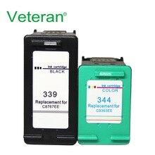 Ветеран 339 344 чернильный картридж совместимый для hp 339 hp 344 для hp officejet 7210 7313 7410 Photosmart 2710 8450 принтер