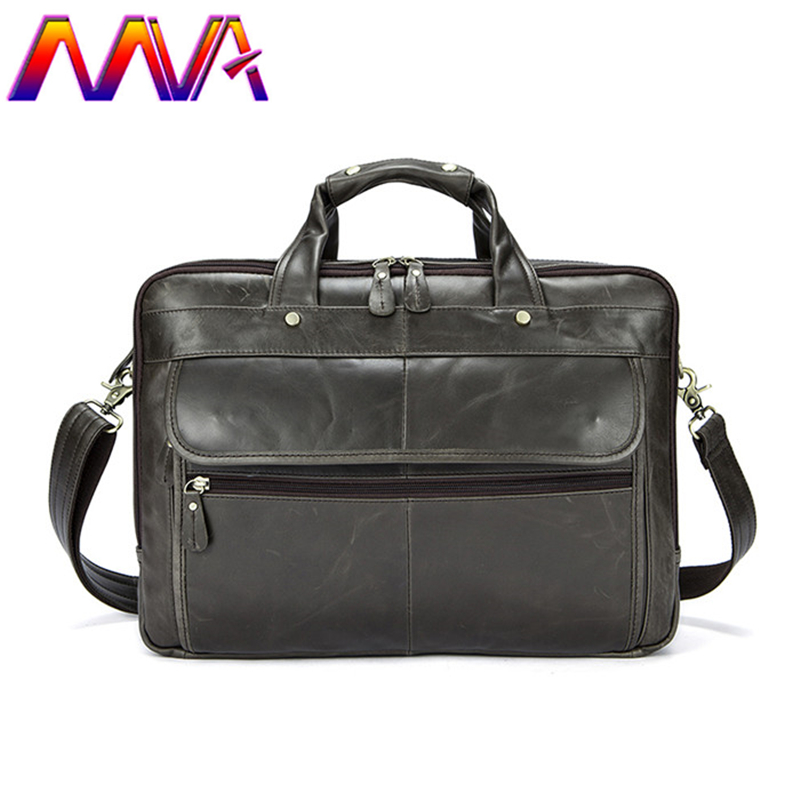 MVA 14 inch laptop bag with quality genuine leather men briefcase for fashion women briefcase men shoulder bag of notebook bags