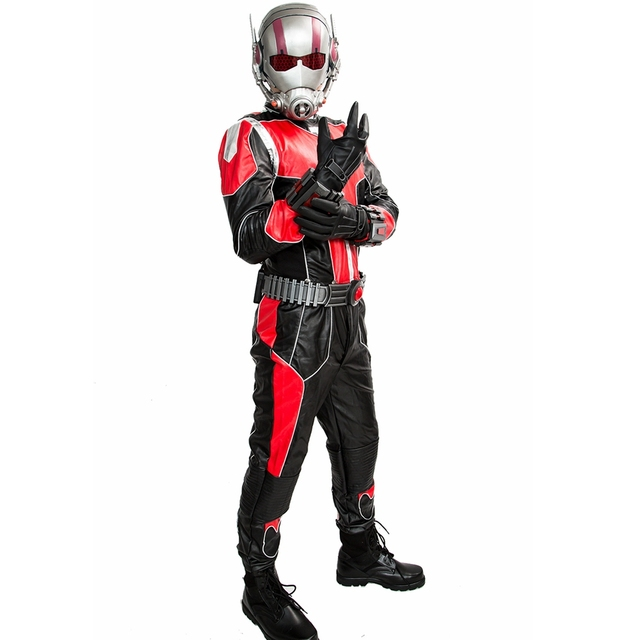 Coslive Ant-man Dress Outfit COSplay Jumpsuit PU Superhero Costume Deluxe Full Sets Men Prop Replica Ant Man Cosplay 1