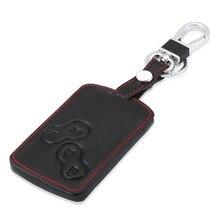 Кожаный чехол для ключей с дистанционным управлением 4 B для Renault Koleos Laguna 2 3 Megane 1 2 3 Sandero Scenic Captur Clio Duster Fluence