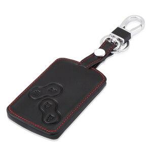 Image 1 - Дистанционный кожаный чехол для ключей 4 B, чехол для Renault Koleos Лагуна 2 3 Megane 1 2 3 Sandero Scenic Captur Clio Duster Fluence