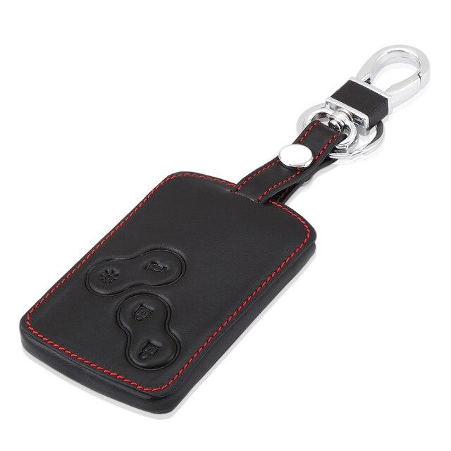 Дистанционный кожаный чехол для ключей 4 B, чехол для Renault Koleos Лагуна 2 3 Megane 1 2 3 Sandero Scenic Captur Clio Duster Fluence