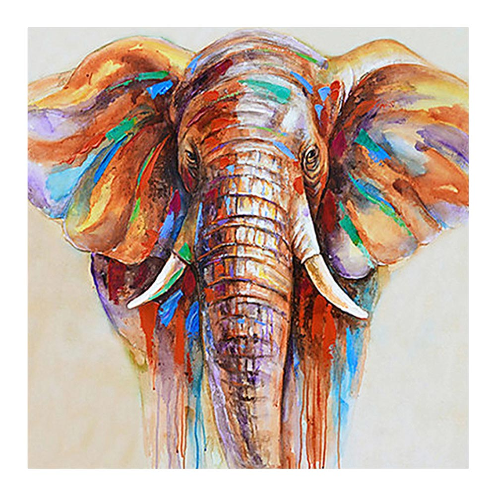 Painting-Oil Animal Diamond Home-Decorative Elephant 5D Full Embroidery Cross-Stitch