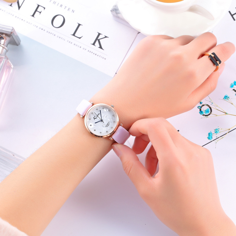 2018 WristWatches Ladies Girls Clock Dial Leather Band Analog Alloy Quartz Wrist Watch super speed v0169 fashionable silicone band men s quartz analog wrist watch blue 1 x lr626