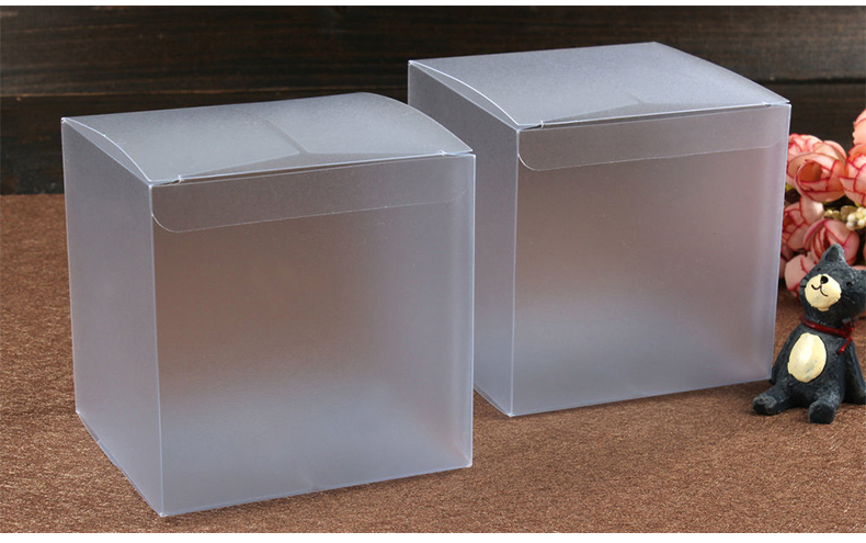 100pcs 8*8*8cm Frosted pvc box plastic clear box gift boxes for jewellery/Candy/food packaging display boxes diy cases storage
