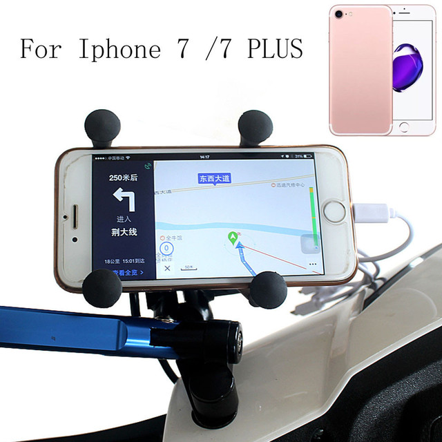 NEW fashion  Motorcycle Stand Holder 12V USB Charger Power Outlet Socket For iphone 7 / 7 Plus/6 /6 plus just for you