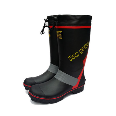 Men 's Boots Rain Boots Rubber Waterproof Non - Slip Fishing Shoes Rock Fishing Waders Shoes Rubber Shoes 39 45 size pvc fishing waders footwear for fishing trango breathable rubber boots overalls waterproof fishing shoes fo22