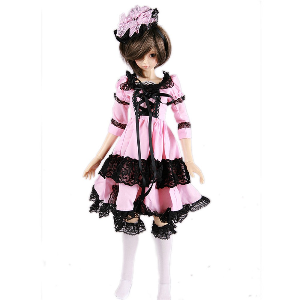 [wamami] 142# Pink Clothes Dress/Suit 1/4 MSD BJD Dollfie [wamami] 130 pink clothes dress 1 4 msd dod aod bjd dollfie free shipping