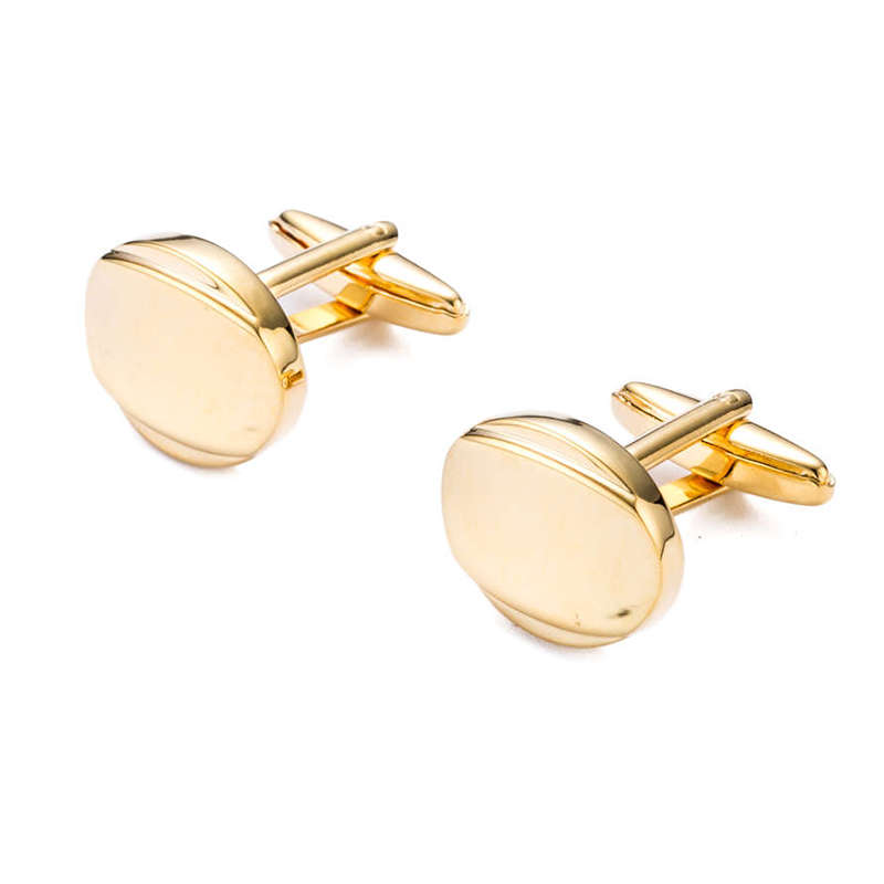 High Quality Mens Cufflink Round Gold Plating Wedding Shirt cuff links mens 368c Fathers day gifts