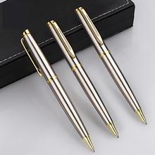 Baoer Ballpoint Pen Office Metal Ball Pens Stationery Kalem Caneta Mb Lapiceros Crestivos Stylo Dlugopis Stainess Steel Rod