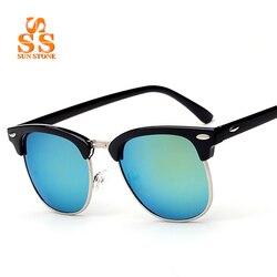Sunstone classic retro designer reflective mirror sunglasses men women brand vintage rivet frame colorful coating shades.jpg 250x250
