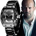 Fotina 2017 Novo Do Crânio Do Pirata Relógios Homens Richard Estilo Quartz Militar Relógio De Pulso Dos Homens de Aço À Prova D' Água Esportes Relogio masculino
