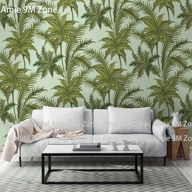 tuya art desktop wallpaper sage green leave for living room wall