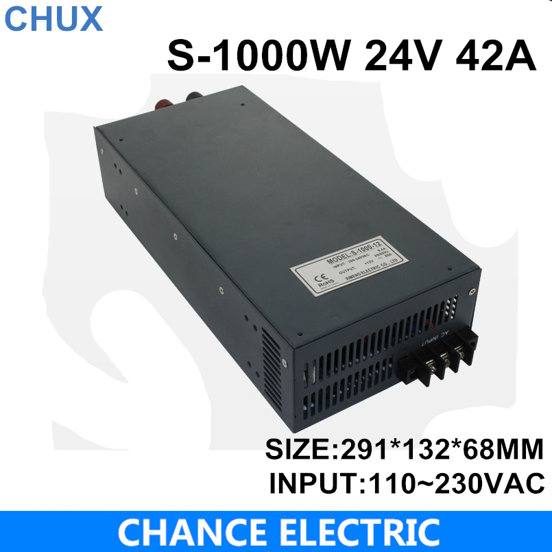 switching power supply 24V 42A 1000W 110~220VAC  single output input  for cnc cctv led light(S-1000W-24V) 48v 20a switching power supply scn 1000w 110 220vac scn single output input for cnc cctv led light scn 1000w 48v