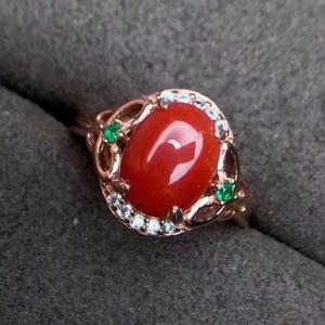 Image 2 - مجوهرات فاخرة من KJJEAXCMY من الفضة الإسترليني عيار 925 بحلقة من المرجان الأحمر للإناث ويمكن اختيار الشهادة من الفضة