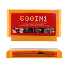 Classicgames 8 bit coleção 60 pinos de memória amarelo cartão 500 in1 para o console de vídeo cartão de jogo não repita super cartão de jogo
