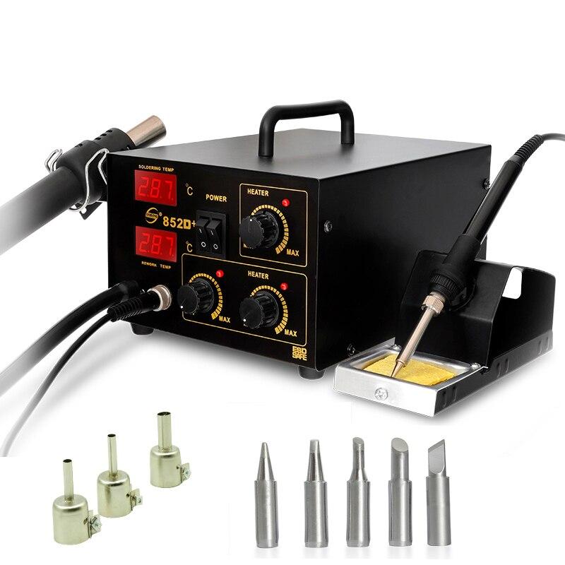 Yaogong 852D Hot Air Digital  Bga Rework Station  Smd Heater Soldering Iron