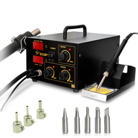 Yaogong 852D hot air digital bga rework station smd heater soldering iron