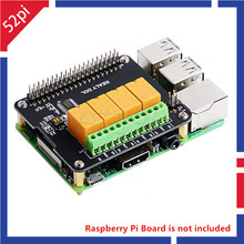 52Pi Original 4 Kanal Relais Hut Board Für Raspberry Pi 4 B/3B + (Plus) /3B/2B, Nicht Enthalten RPi Bord
