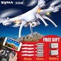 Syma fpv x5sw (X5C Atualizado) zangão com câmera quadcopter dron wi-fi em tempo real sem cabeça/x5s rc helicóptero quadrocopter kids toys