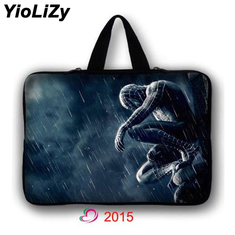 Spiderman Ultrabook Notebook sleeve 7 9.7 12 13.3 14.1 15.6 17.3 inch Laptop Bag tablet Case PC cover briefcase handbag LB-2015