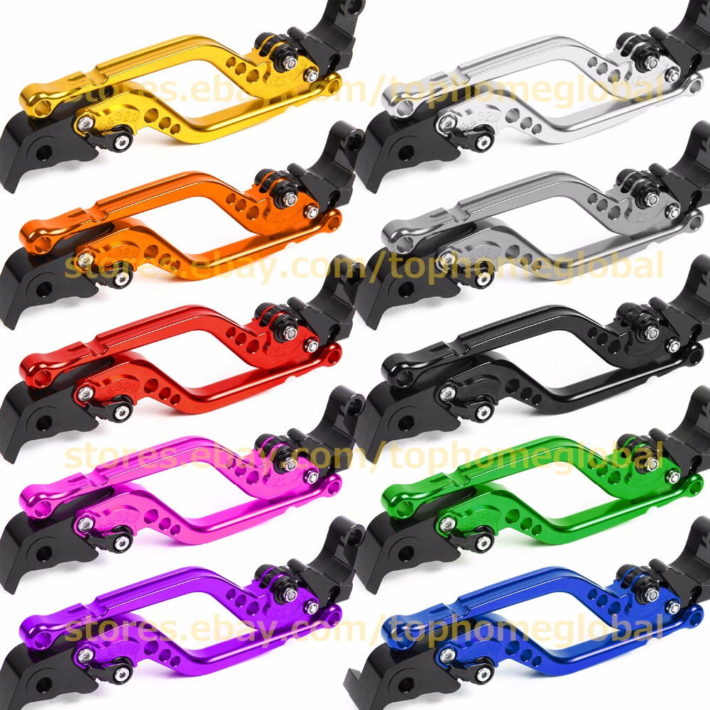For Kawasaki NINJA 650R ER6N ER6F 2006 2007 2008 Long Clutch Brake Levers CNC Adjustable 10 Colors Regular Standard 17.7cm billet adjustable long folding brake clutch levers for kawasaki z750 z 750 2007 2008 2009 2010 2011 07 11 z800 z 800 2013 2014