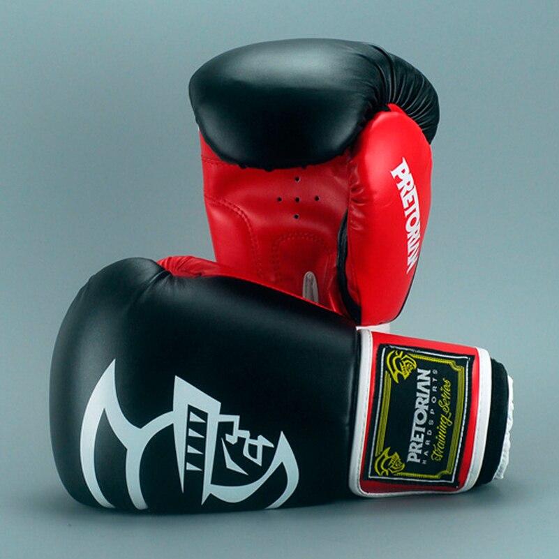10-16 OZ gros brésilien PRETORIAN Muay Thai PU cuir gants de boxe Twin femmes hommes MMA Gym formation Grant gants de boxe
