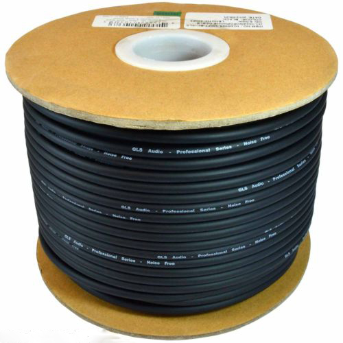 KL High Quality 165FT (50M) MIC BULK CABLE 24AWG BLACK.