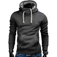 2017 New Spring Autumn Hoodies Men Fashion Brand Pullover Solid Color Turtleneck Sportswear Sweatshirt Men S