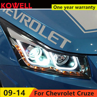 KOWELL Car Styling For Chevrolet Cruze Headlights 2009 2014 LED Headlight DRL Q5 Bi Xenon Lens High Low Beam Parking